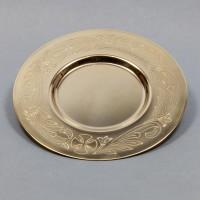 Paten gilded brass